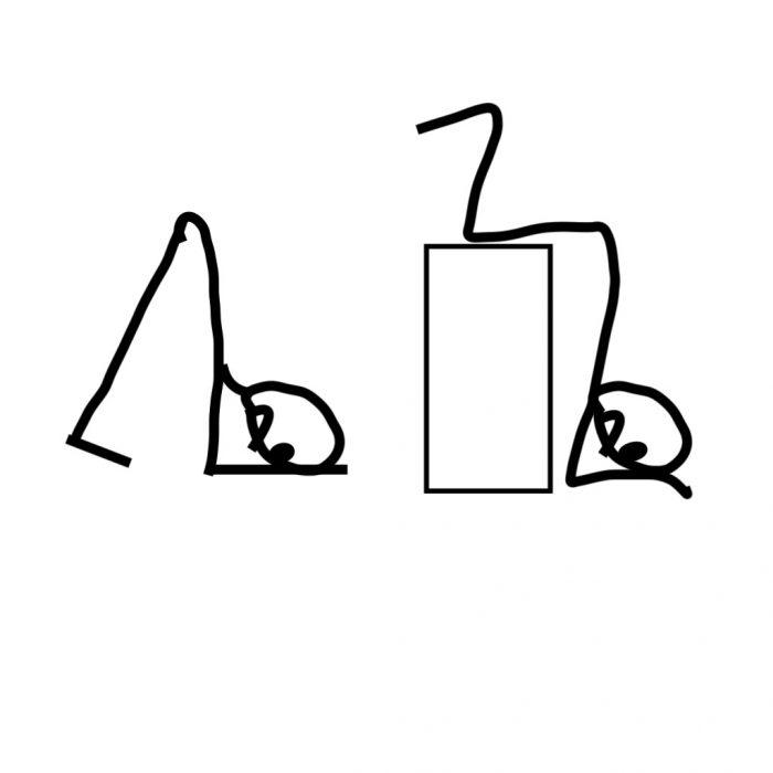 著者による原図のコピー。ハイムリックは頭を下げて行う