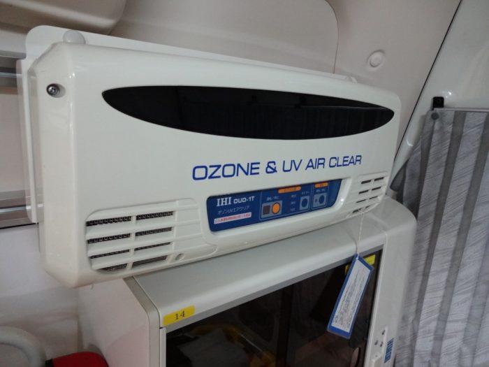 紫外線やオゾン発生装置を併用する