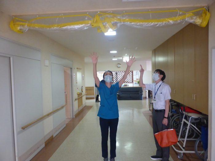 介護施設でのパーティション
